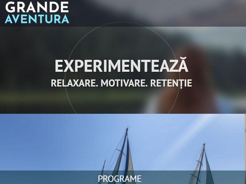 Grande Aventura - Site de prezentare, Creare site web