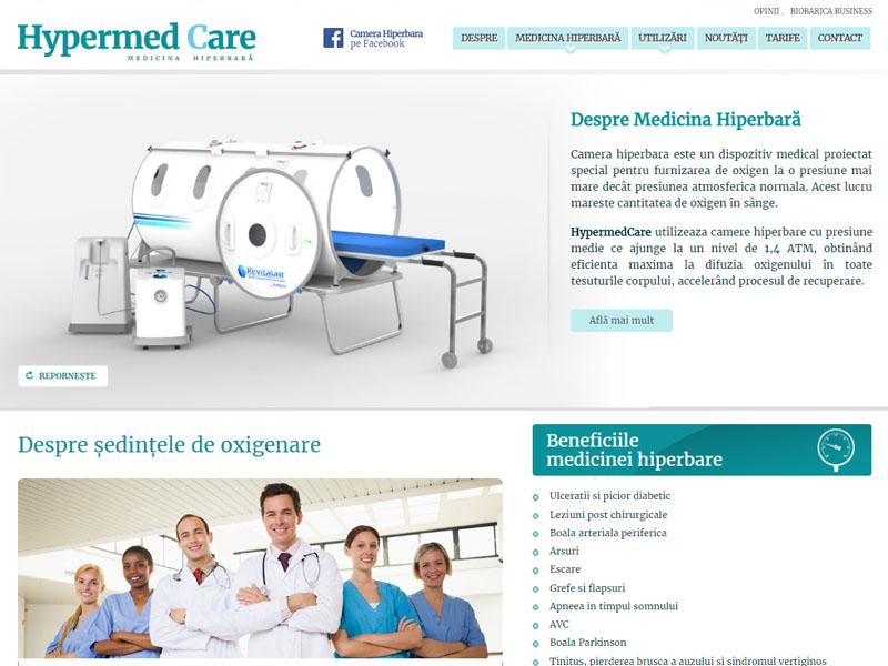 Camera Hiperbară - Site de prezentare, Creare site web