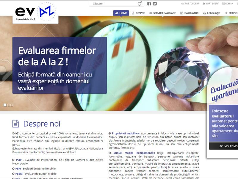 Evaz - Site de prezentare, Creare site web