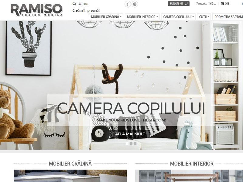 Ramiso Mobila - Magazin online, Creare site web