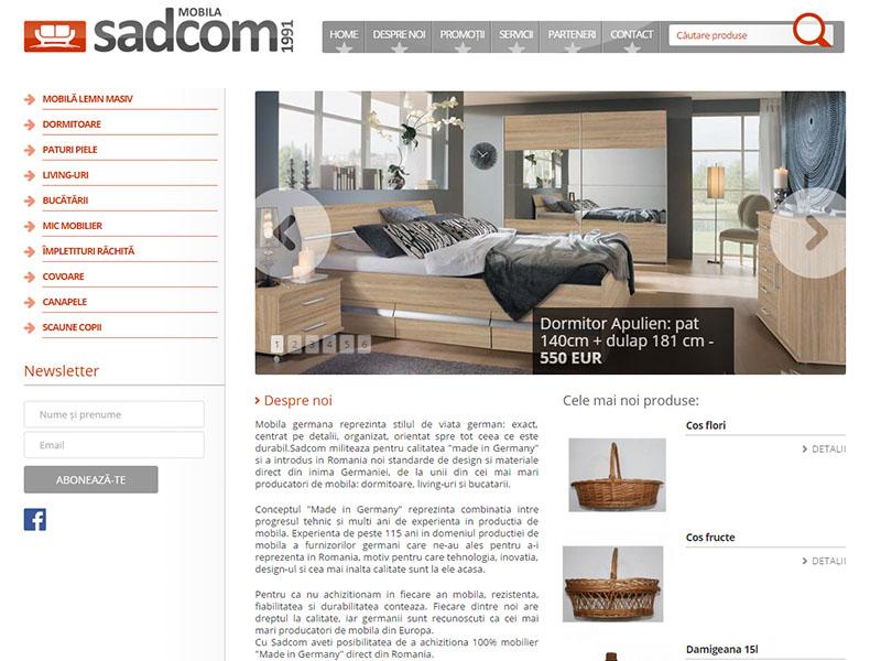 Sadcom SA - Catalog online, Creare site web