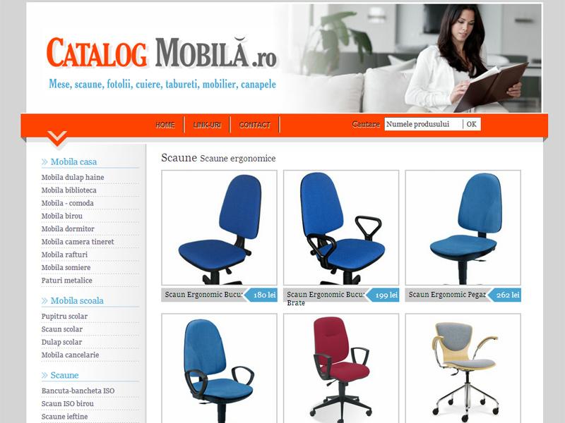 Catalog de mobila - Catalog online, Creare site web