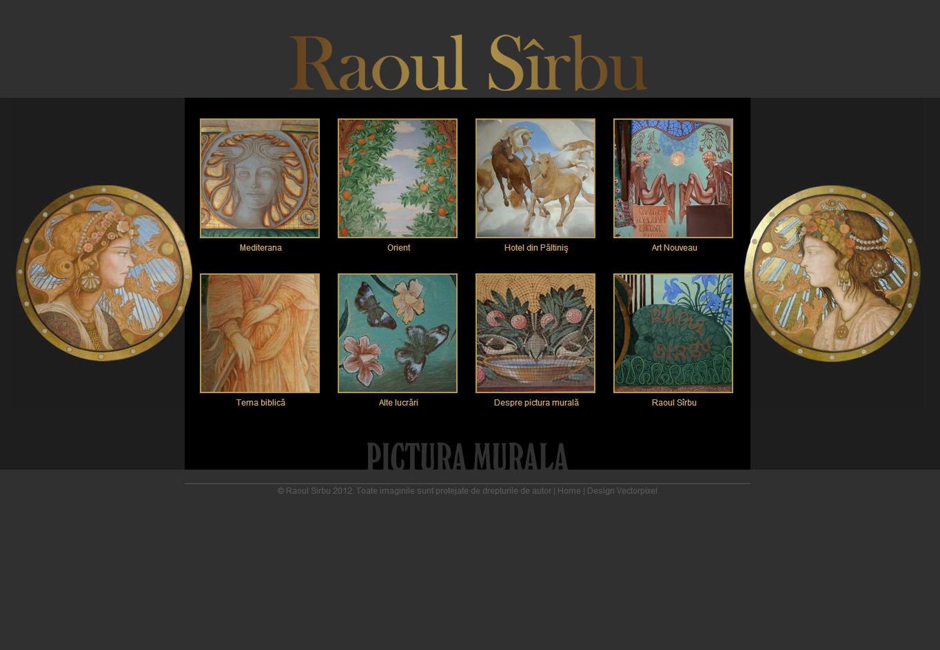 Raoul Sîrbu - Site personal, Creare site web
