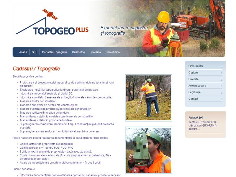 Site Web Topogeo Plus  - Site de prezentare, Creare site web