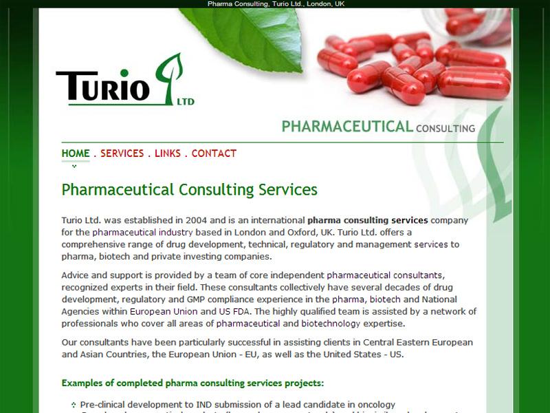 Turio Pharmaceutical - Site de prezentare, Creare site web