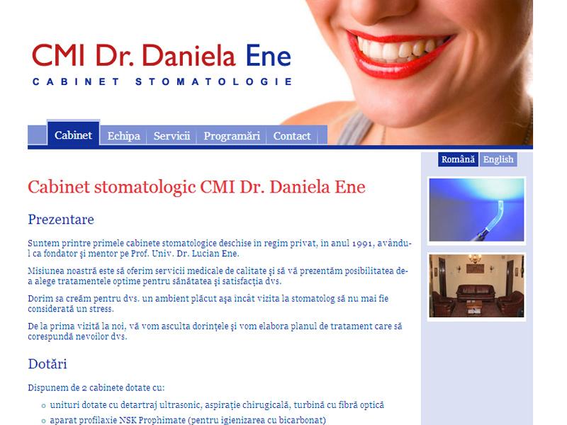 Doctor Ene - Site de prezentare, Creare site web