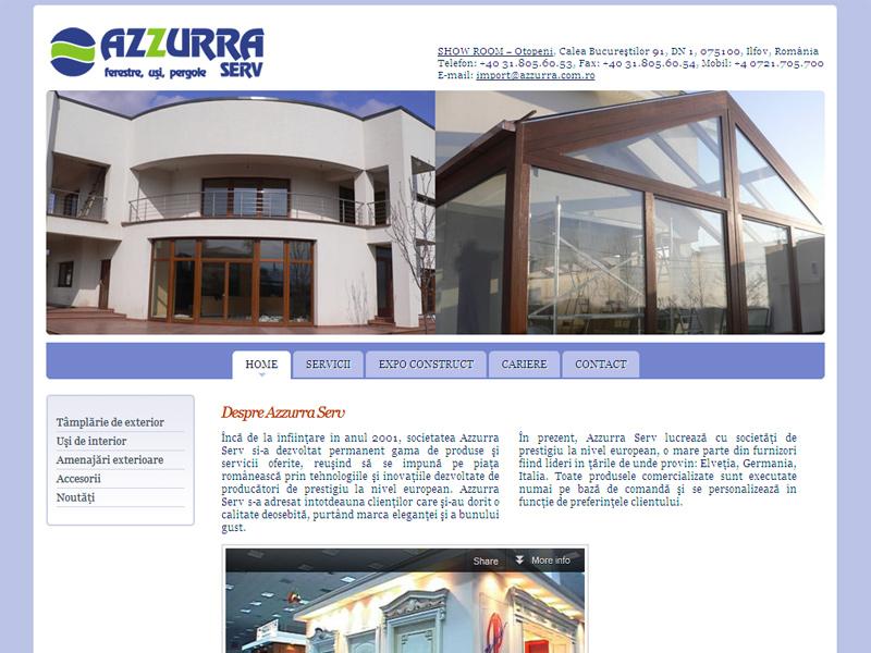 Azzurra Serv - Site de prezentare, Creare site web