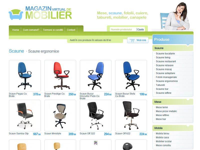 Magazinul de mobilă - Magazin online, Creare site web