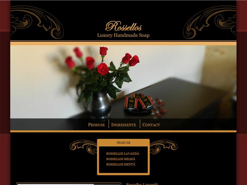 Săpunuri naturale Rossellos - Site de prezentare, Creare site web