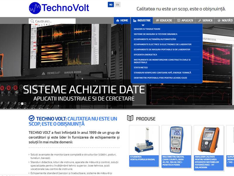 TechnoVolt - Magazin online, Creare site web