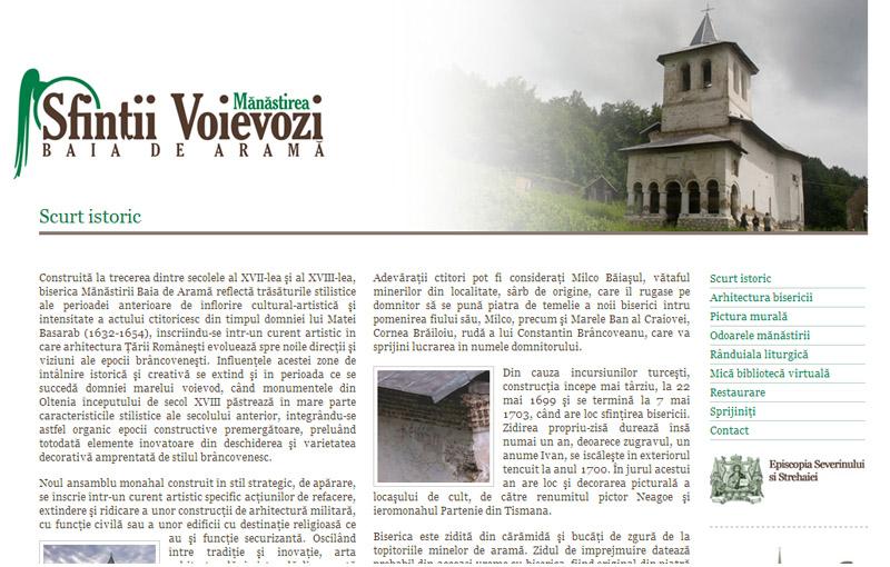 Mănăstirea Sfinţii Voievozi - Site de prezentare, Creare site web