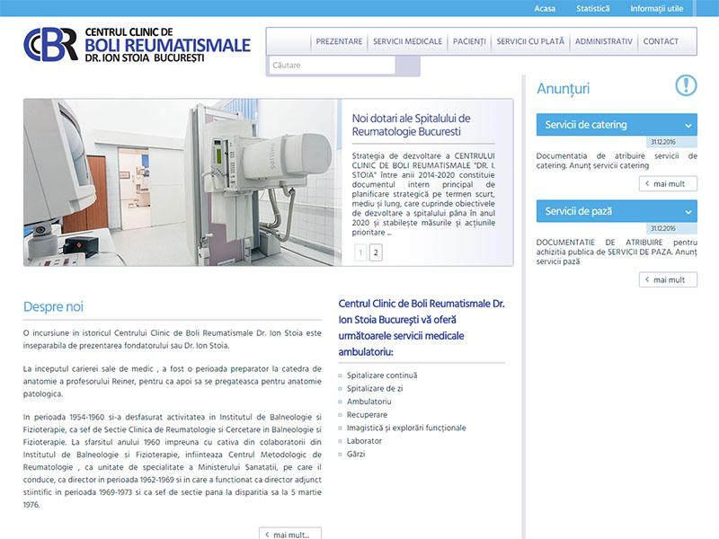 Spitalul de Reumatologie București - Site de prezentare, Creare site web