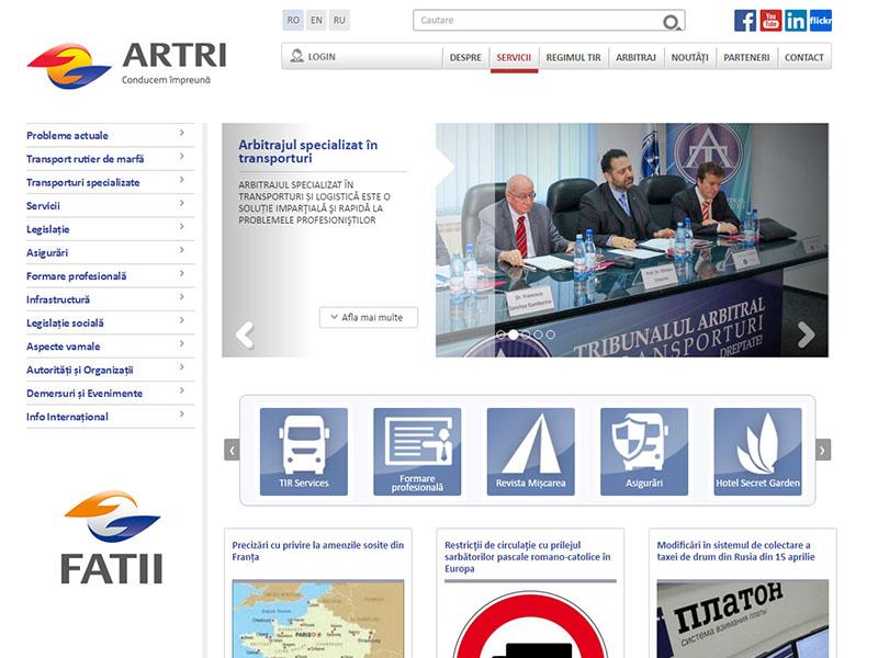 ARTRI - Portal de date, Creare site web