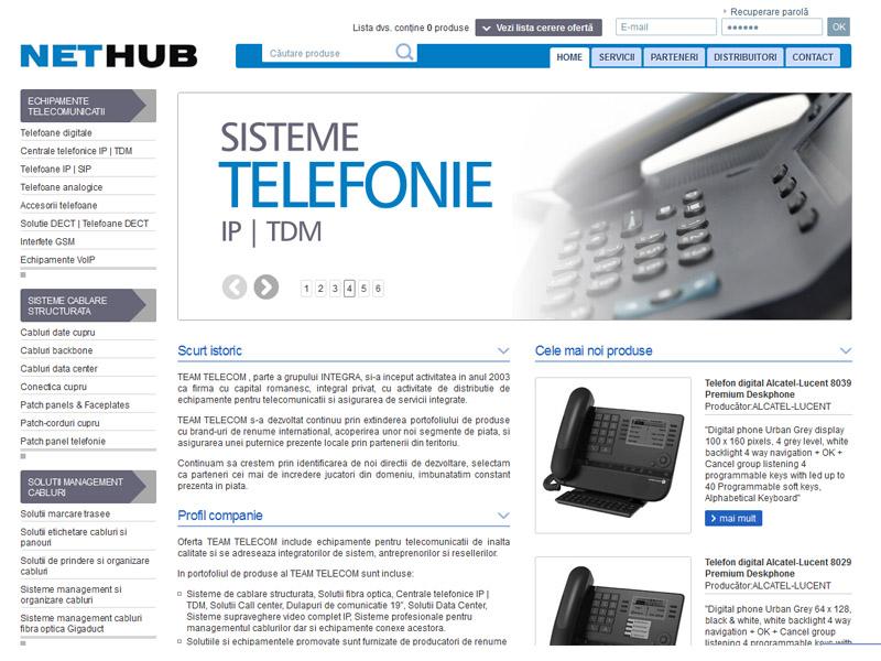 Nethub telecomunicatii - Magazin online, Creare site web