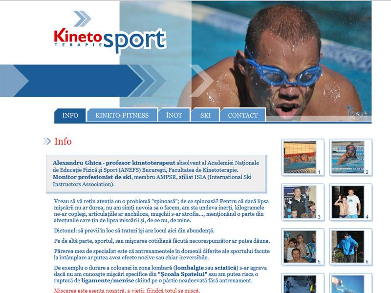 Kinetosport - Site personal, Creare site web