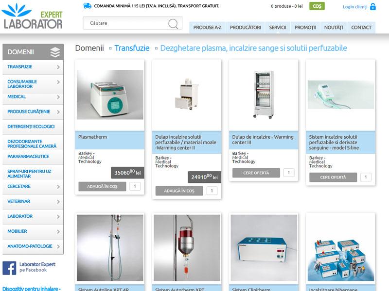 Laborator Expert - Magazin online, Creare site web