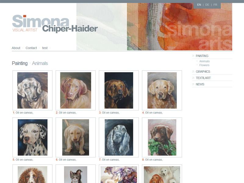 Simona Chiper-Haider - Site personal, Creare site web