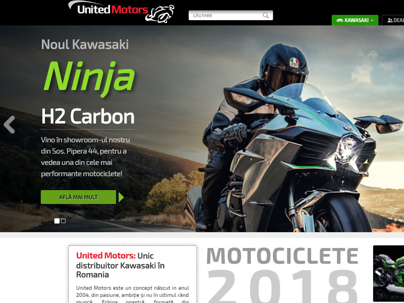United Motors - Catalog online, Creare site web