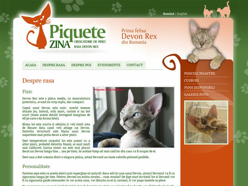 Piquete Zina - felisa Devon Rex - Catalog online, Creare site web