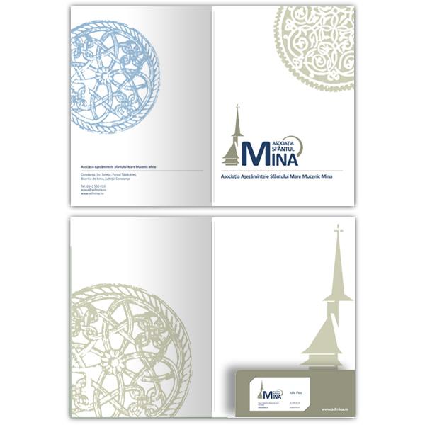 Mapa Asociaţiei Sf. Mina - Tipar, Grafic design