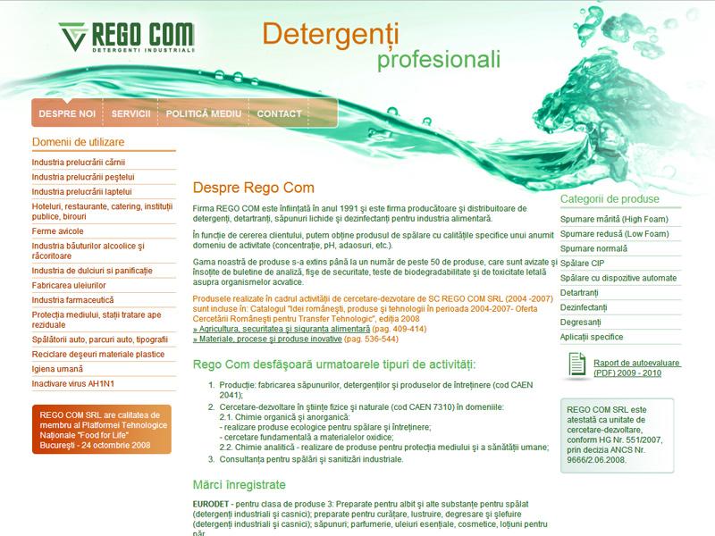 Regocom - Detergenti profesionali - Magazin online, Creare site web
