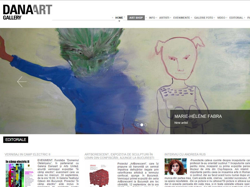 Dana Art Gallery - Catalog online, Creare site web