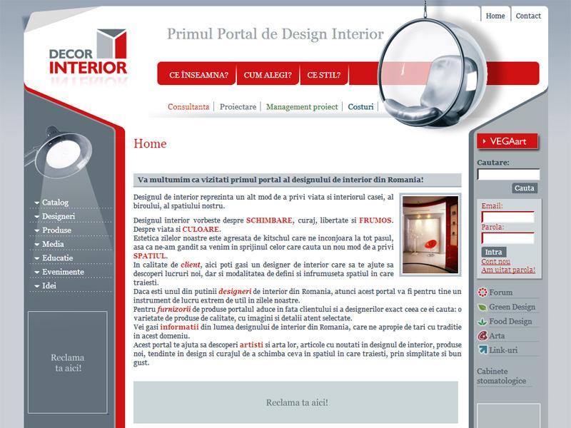 Decor interior - Portal de date, Creare site web