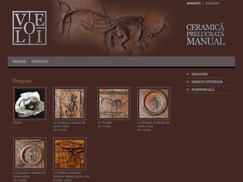 Ceramica Velio - Site personal, Creare site web