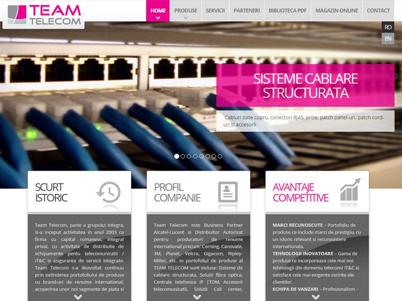 Teamtelecom - Catalog online, Creare site web