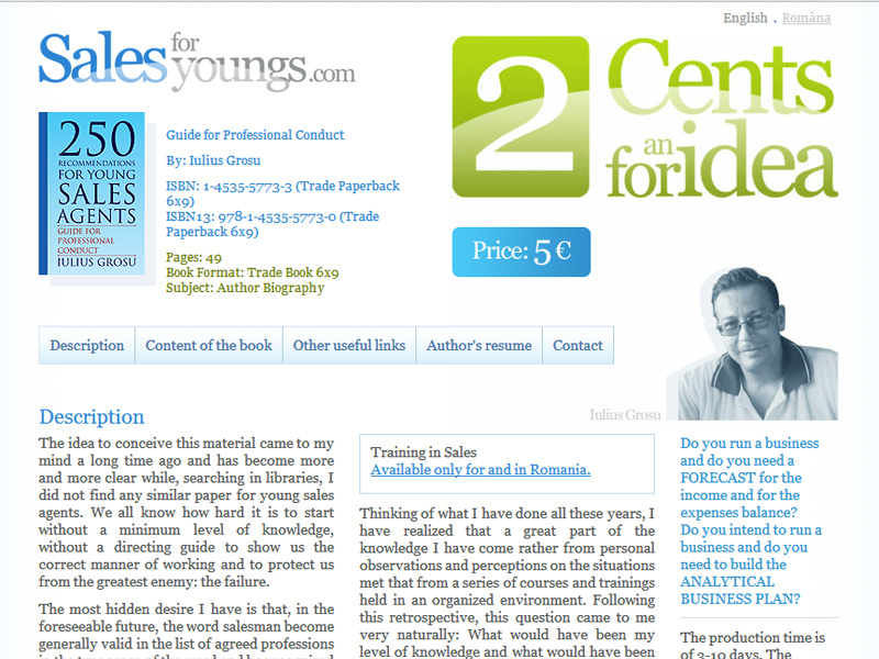 Sales for Youngs - Site personal, Creare site web