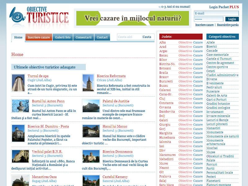 Obiective Turistice în România - Portal de date, Creare site web