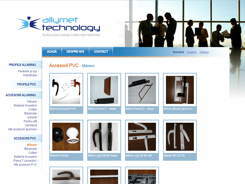 Profil Aluminiu - Catalog online, Creare site web