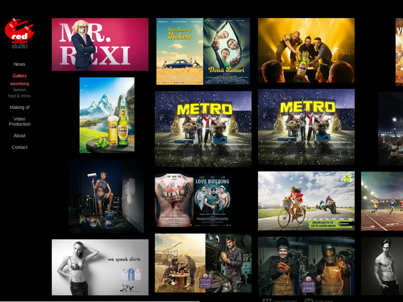 Red Carpet Studio - Site de prezentare, Creare site web