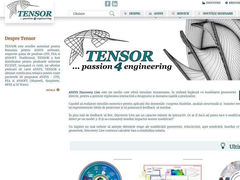 Tensor - Catalog online, Creare site web