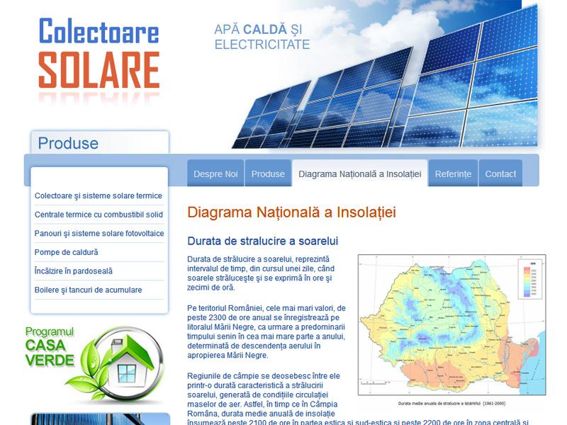 Colectoare Solare - Catalog online, Creare site web