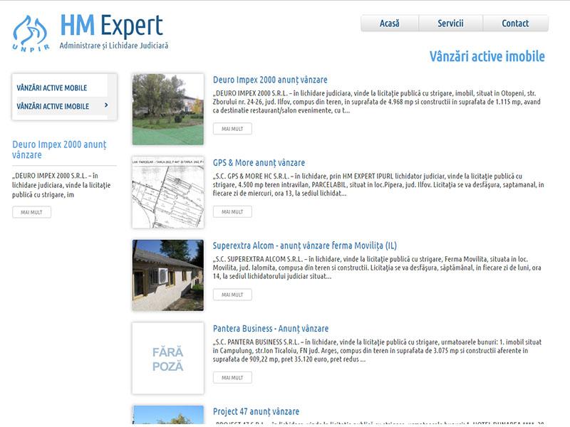 HM Expert - Catalog online, Creare site web