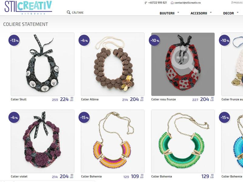 Stil Creativ - Magazin online, Creare site web