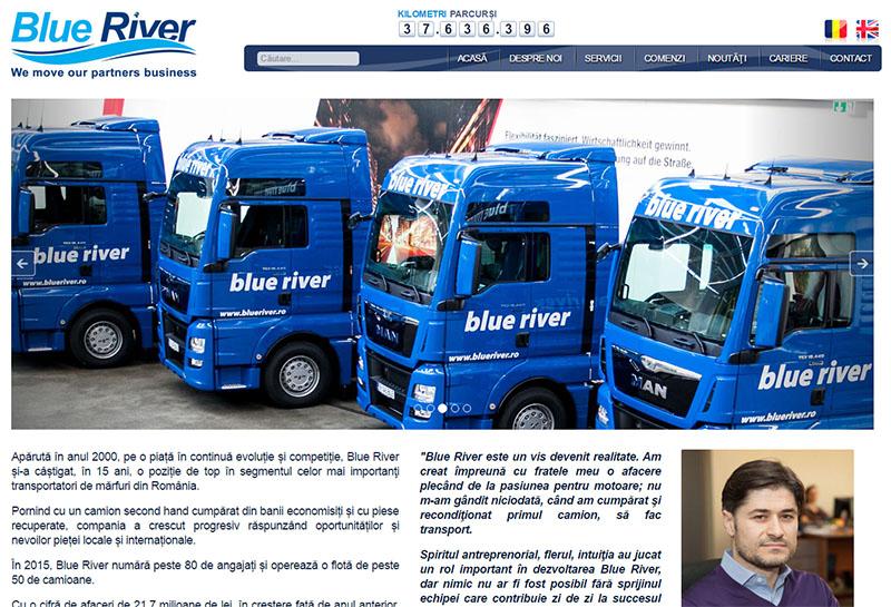 Blueriver - Site de prezentare, Creare site web