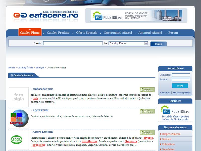 eAfacere - Portal de date, Creare site web