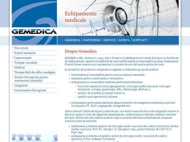 Gemedica - Site de prezentare