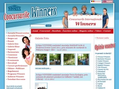 Concursurile Winners - Portal de date