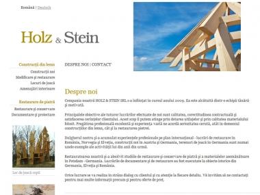 Holz & Stein - Site de prezentare