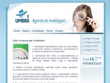Umbra Grup - Site de prezentare