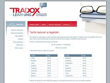 Tradox Traduceri - Site de prezentare