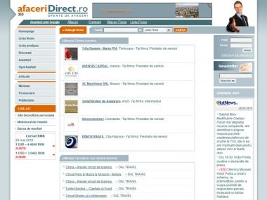 Afaceridirect - portal de afaceri - Portal de date