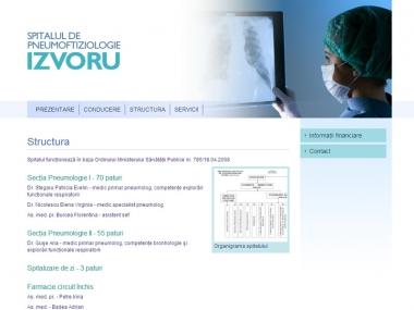 Spitalul de Pneumoftiziologie Izvoru - Site de prezentare