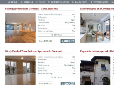 Bucharest Homes Imobiliare - Catalog online