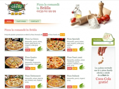 Pizza La Grecu Braila - Catalog online